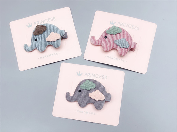 Boutique 15pcs Fashion Cute Elephant Hairpins Solid Cartoon Animal Hair Clips Princess Headwear INS Fairy Hair Accessories