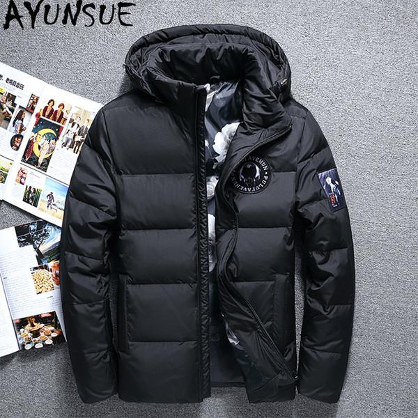 AYUNSUE 2019 New Men's Down Jacket Short Winter Jacket for Men Thick Korean Coat with Hat Male Jackets Doudoune Homme KJ792