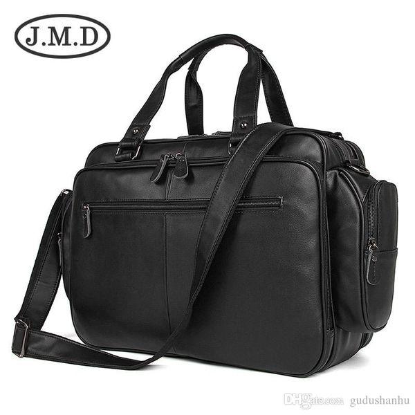 J.M.D 100% Real Leather Trendy Travel Bags Handbag Laptop Bag Duffel Bags Shoulder Messenger Bag Handbags Briefcases 7150A
