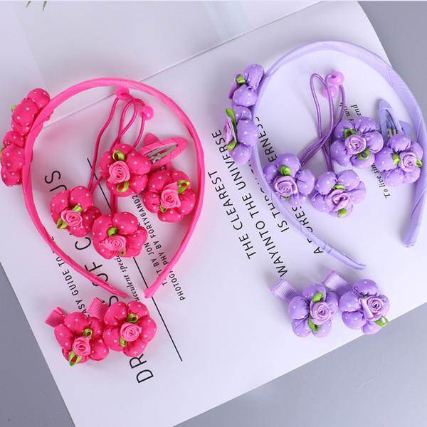 7pcs Cute pumpkin flower Children Hairpins Hairbands Headbands for Girls kids Hair clips Accessories Handmade Barrettes Headwear