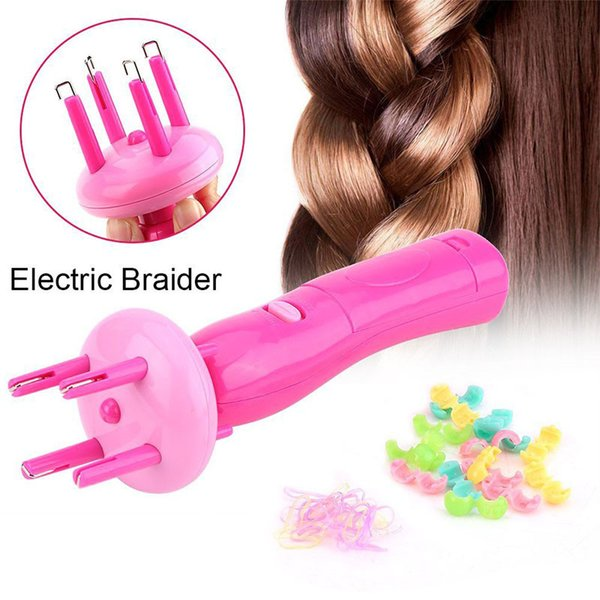 Electric Hairstyle Tool Hair Weave Roller Braider Device Kit Braid Machine for Women Portable Automatic ABS Creative