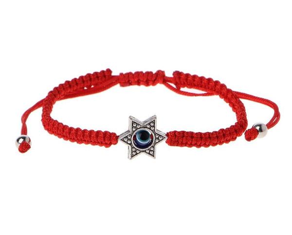 Lucky Kabbalah Red String Thread Hamsa Bracelets Blue Turkish Evil Eye Charm Women Handmade Fatima Friendship Jewelry