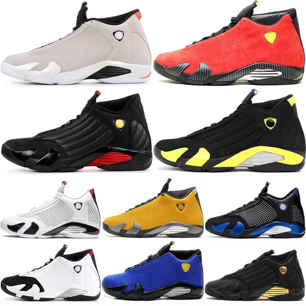 Vente chaude 14 14s Hommes Chaussures de Basketball designer designer Desert Sand Thunder orteil noir canne en bonbon définissant moments Last Shot mens Sports Sneakers
