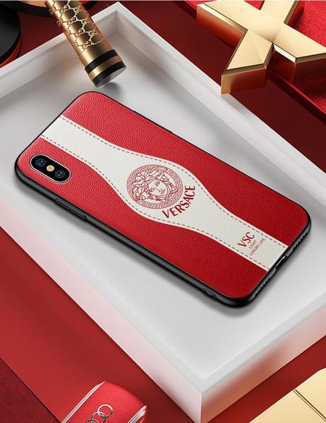 2019 iPhoneX için Yeni Marka Telefon Kılıfı Xs XSmax XR iPhone7 / 8 artı iPhone7 / 8 iPhone6 / 6 s iPhone6 / 6sP Tasarımcı Yaratıcı Serin Lüks Telefon Kılıfı