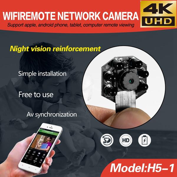 4 K Mini Wifi Caméra IR Vision Nocturne DIY Module caméra Sans Fil Numérique Enregistreur Vidéo Mini Caméra pour IOS Android Téléphone APP Vue À Distance
