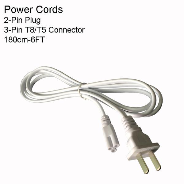 6FT 2PIN-US-Netzkabel ohne Schalter