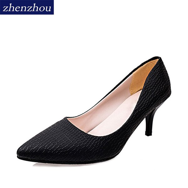 2019 Dress Korean edition autumn new high heel high heel high heels wholesale OL black professional work shoes and shallow-mouth single