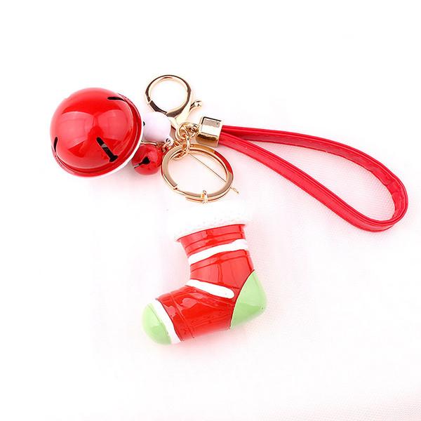Parti Noel Hediye Yaratıcı Noel Hediyesi Anahtarlık Noel Baba Kardan Adam Kız Çanta Anahtarlık