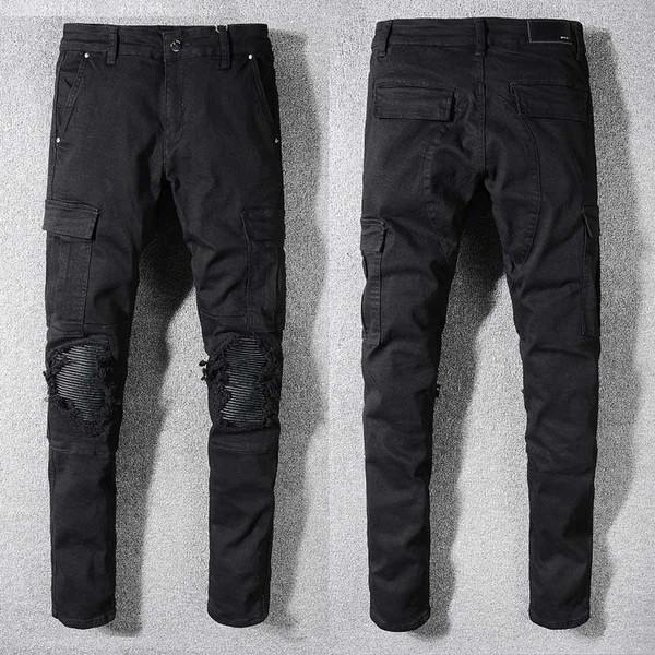 pantalones vaqueros AMIRI estilo europeo de alto grado de alta gama para hombre de la moda para hombre serie de moda del partido de moda nuevo estilo de color 22 Descuento creativo