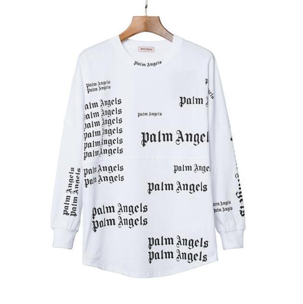Роскошные Мужские Дизайнерские Футболки Горячие Марка Футболки С Пальмовыми Ангелами Печати Мода Мужчины Женщины Кофты Пуловеры Топы Одежда 2 Цвета