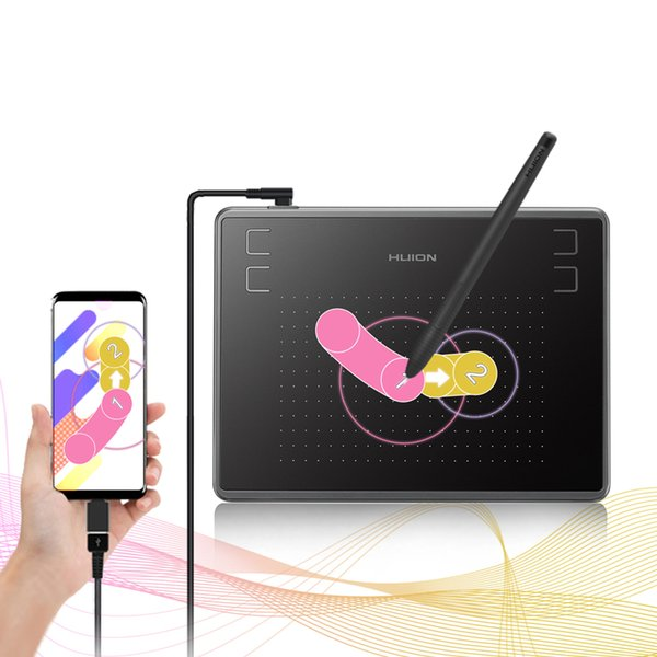 Цифровые таблетки HION H430P Цифровые таблетки Micro USB Подпись Подпись Графика Рисование Ручка Планшета OSU Игра Бесплатная таблетка с подарком