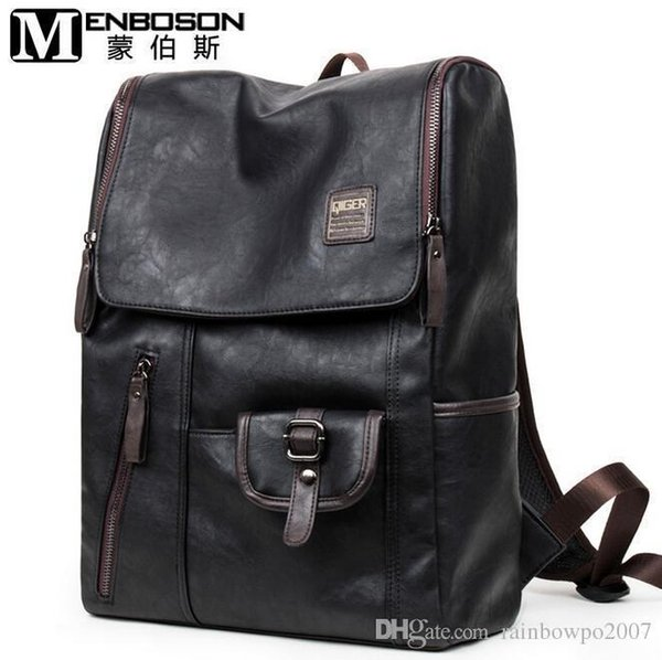 Factory Direct Tideing Brand Mens Bags Of European And American Fashion Retro Casual Men Backpack Trend Of High-end Leather Casual Brand Ba