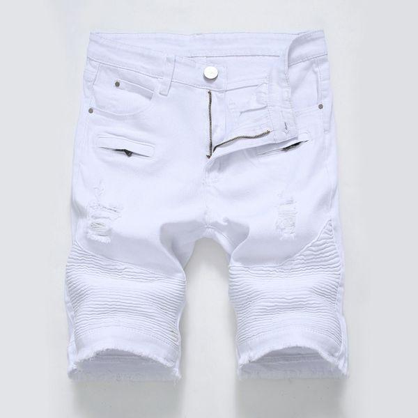 NUEVOS pantalones cortos de calle estilo hip hop moda verano pantalones vaqueros cortos para hombre Pantalones cortos con agujero suave y cómodo