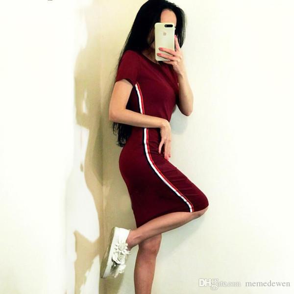 Sexy Womens Short Sleeve Hot Sports Dress Bodycon Summer Beach Mini Nightclub Dress NZK-1860