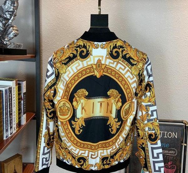 2019 Giacca uomini dimagriscono Nail Mens Distintivo Denim Giacca di jeans progettista manica lunga di alta qualità Jacket 9647