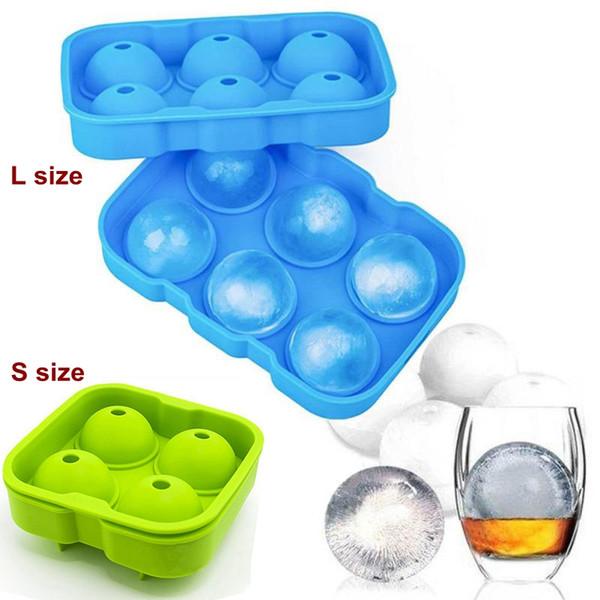 2 Größen Silikon Eiswürfel Ball Tray Brick Runde Maker Mold Ice Sphere Mold für Party Bar Ice Tools
