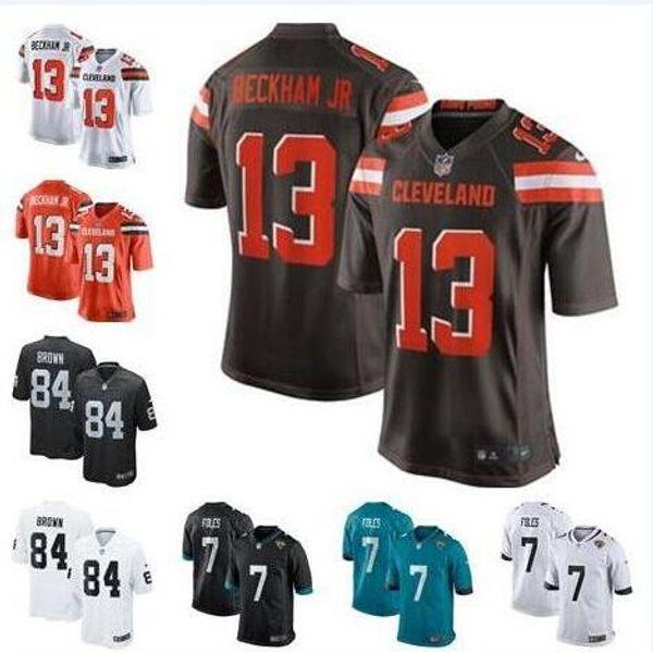 san francisco 758aa 0ecde 2019 Odell Beckham Jr Jersey Antonio Brown Nick Foles Cleveland Oakland  Browns Raiders Landon Collins Custom American Football Jerseys Color Rush  From ...