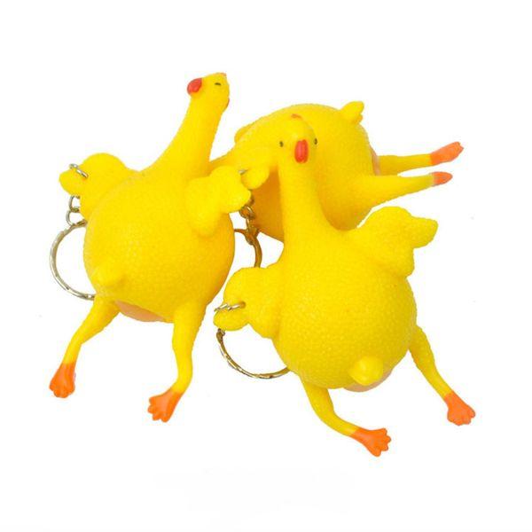 Çocuklar yetişkinler oyuncaklar Komik Zor Antistres Tavuk Parodi Oyuncak Havalandırma Tavuklar Yumurta Stres anahtarlık Alet Stres Giderici Oyuncaklar JY220