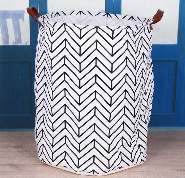 13 Styles Pattern Ins Storage Baskets Bins Kids Room Toys Storage Bags Bucket Clothing Organization Canvas Laundry Bag DH0116