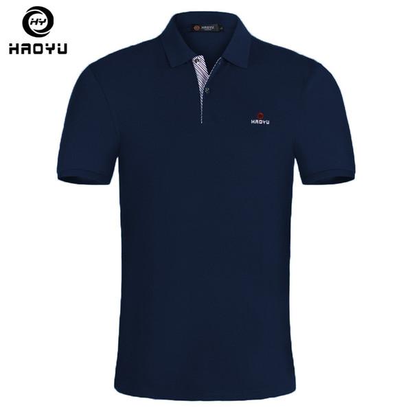15 Color Mens Polo Shirt Brands Slim Fit Casual Solid Polo Shirts Brand Clothing Short Sleeve Fashion Haoyu Poloshirt Summer Xxl Q190428