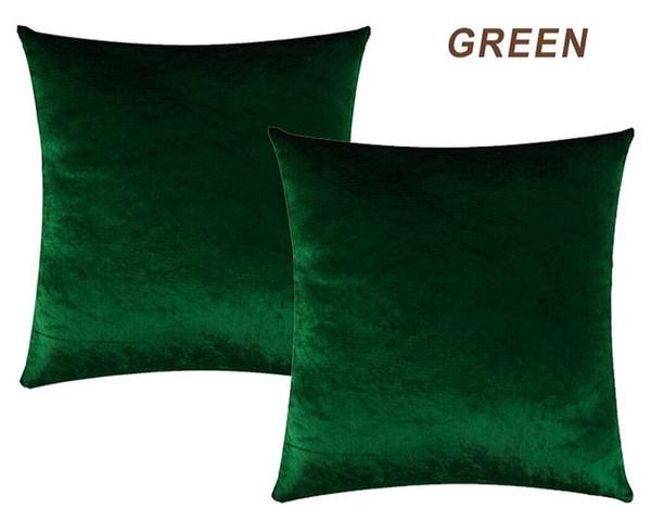 Funda de Almohada de oro Decoración de Terciopelo Hogar Decorativo Gris Gris Almohada Cojín Para Dormitorio Sofá Tela de Lujo Verde