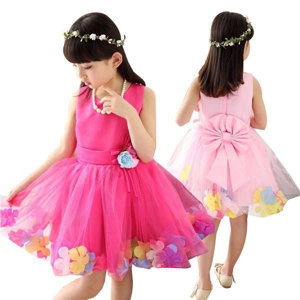 Spring Summer Teenage Girls Dress Kids Wedding Birthday Party Princess Dress For Girls 3-10 Years Children Clothing Kids Costume