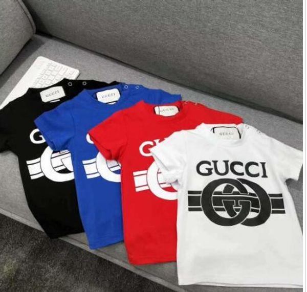T-shirt en coton garçon à manches courtes de marque été vente chaude nouveau style européen et américain haut de gamme pour enfants