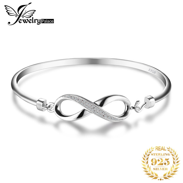 jewelrypalace crown infinity love 925 sterling silver bangles bracelets for women silver 925 jewelry making organizer