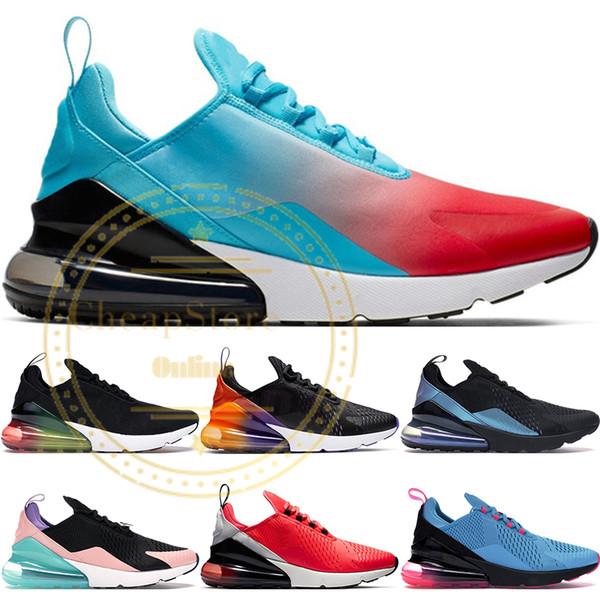 top popular New Firecracker Running Shoes For Men Women Black Gradient Triple Black White CNY Rainbow Heel Sports Mens Trainers Designer Sneakers 36-45 2019