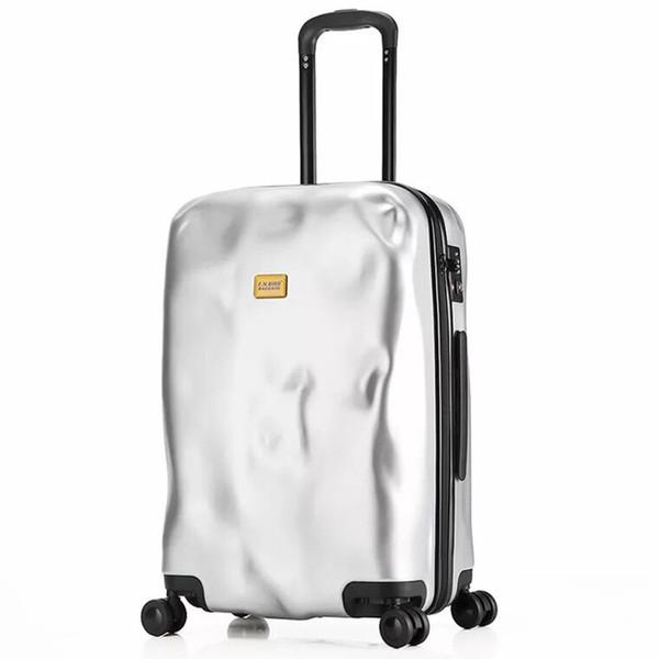 Itália personalidade rolando bagagem moda roda giratória homens mulheres mala de viagem 20 24 28 polegada de viagem carry on trolley case