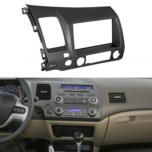 Grey Double Din Car Radio Dash Kit Wiring Harness Fits For 2006 2011 on double din bracket, double din cover, double din radio, double din trim ring, double din dash panel,