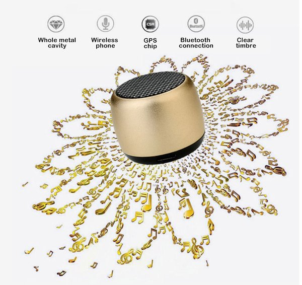 One Piece Portable Bluetooth Speaker Wireless Stereo Heavy Bass Loud speaker M1 mini music box