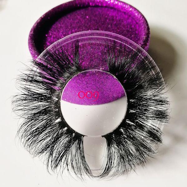 3D mink eyelash 100% real mink fur Handmade False eyelash crossing lashes individual strip thick lash 21