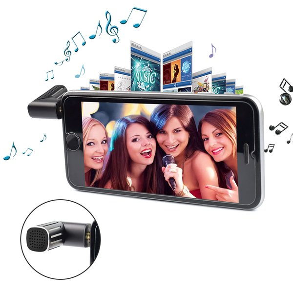 Portable Mini Condenser Microphone for mobile phones wireless microphone Record video karaoke for iphone Samsung IOS Android