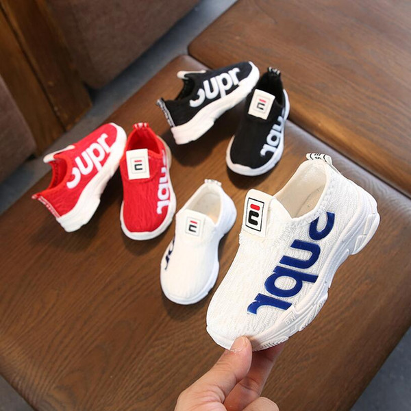 top popular Spring Autumn Kids Shoes Fashion Mesh Casual Children Sneakers For Boy Girl Toddler Baby Breathable Sport Shoes 2021