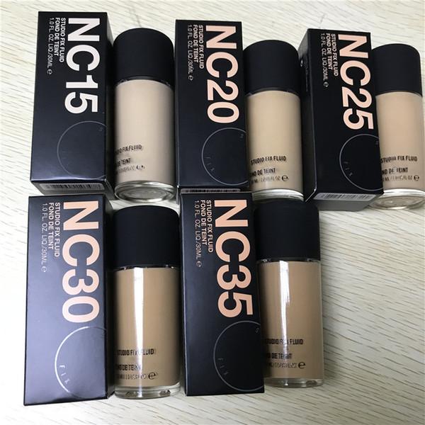 NOVO pacote de qualidade SUPERIOR nc15 nc20 nc25 nc30 nc35 STUDIO FIX FLUID FOND DE TEINT 30 ml Maquiagem Cosméticos Fundação Líquida