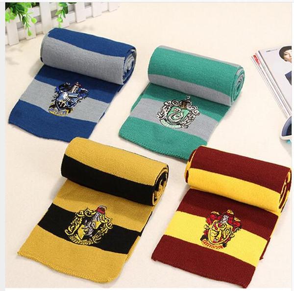 Harry Potter Eşarp Gryffindor Unisex Örme Çizgili Eşarp Gryffindor Eşarp Harry Potter Hufflepuff Eşarp Çocuk Atkılar MMA2335