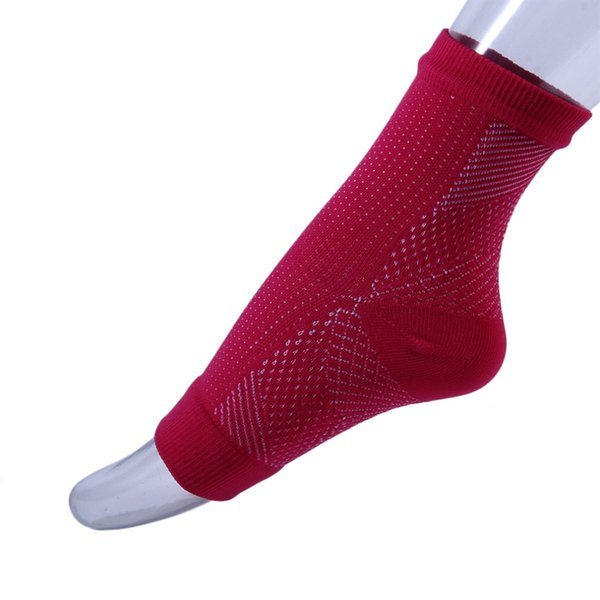 2pair Foot angel anti fatigue compression foot sleeve Running Cycle Basketball Sports Socks Outdoor Men's Ankle Brace Sock #17824