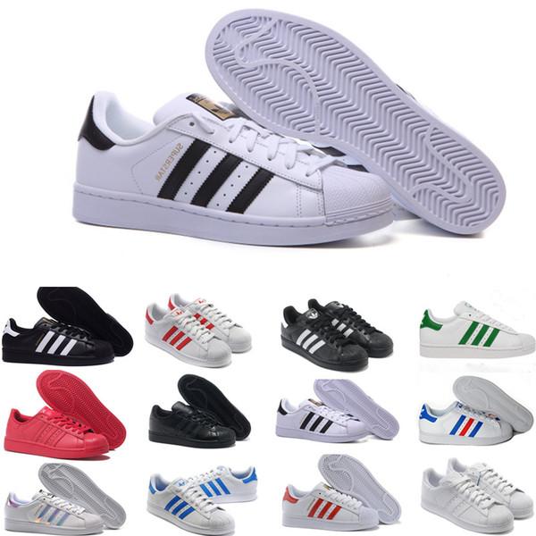 new Superstar Original White Hologram Iridescent Junior Gold Superstars Sneakers Originals Super Star Women Men Sport casual Shoes 36-45