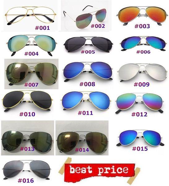 Use marca de moda fresca para mujer Gafas de sol Top Ventas Anti-ultravioleta Dama Sombras para el sol Clásico Retro Lindo Piloto Gafas de sol DLH096