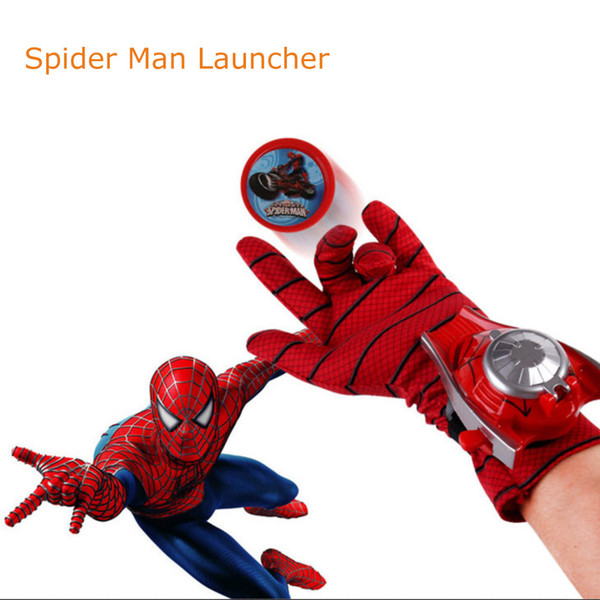 Spider-man Batman Superhero Launchers Gloves Cosplay Weapon Kids Toys Xmas Gifts