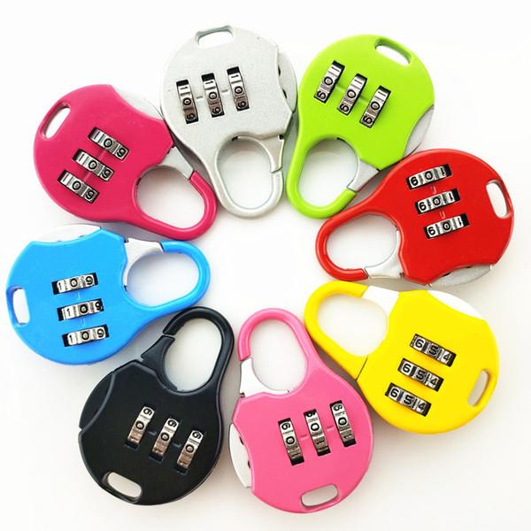 Mini Asma Kilit için Bagaj Sırt Çantası Bavul Kombinasyon Şifre Kilidi Öğrenci Çocuklar Açık Seyahat Locker Güvenlik Metal Asma Kilit M.Ö. BH2704