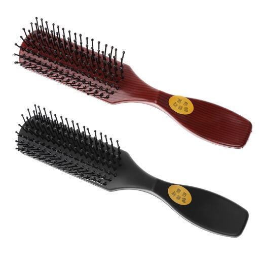 Sıcak 10 adet / grup Pro Plastik Saç Fırçası Salon Ev Kullanımı Için Bacalı Tarak Kuaförlük Güzellik Aracı