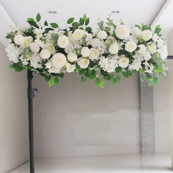 Upscale Artificial Silk Peonies Rose Flower Row Arrangement Supplies for Wedding Arch Backdrop Centerpieces DIY Supplies