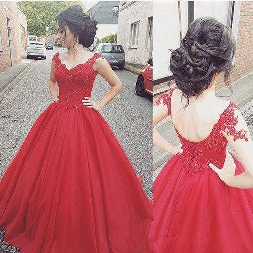 2020 Designer Ball Gown Evening Gowns Vintage Red Tulle Sweetheart Prom Party Dresses For Girl Special Occasion Dress Australia 2020 From