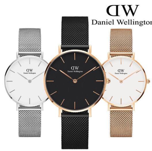 Montre de Luxe pour Homme Femme Quartz Métal Mesh bracelet de haute qualité Horloge étanche BMS Deisgner