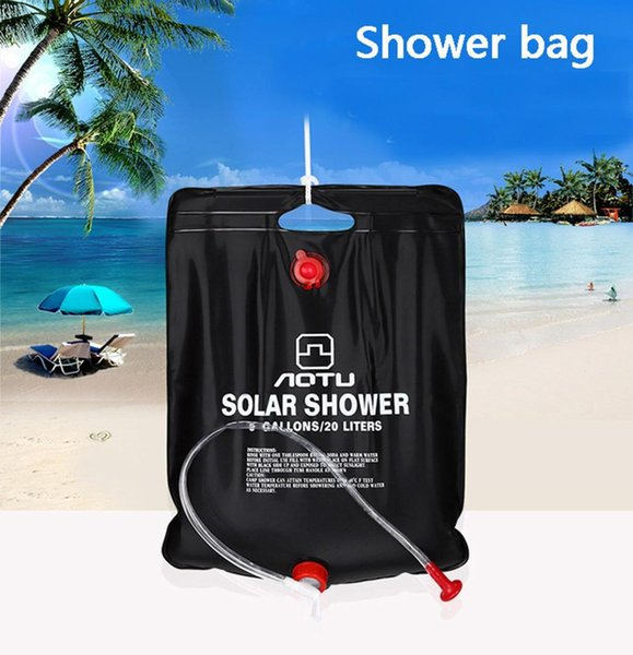 best selling High quality Portable Garden Sprinkler 20L Outdoor Camping Hiking Solar Energy Heated Camp Shower Pipe Bag 2019