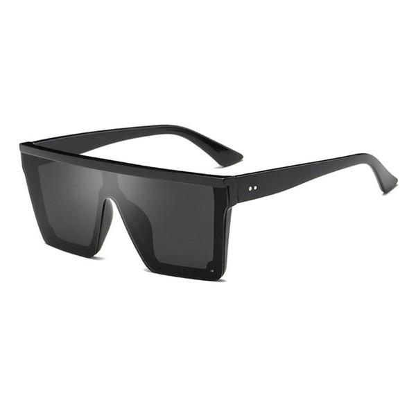 Yeni modern şık erkekler kadınlar için güneş gözlüğü düz üst kare tasarımcı gözlük moda vintage sunglass óculos de sol