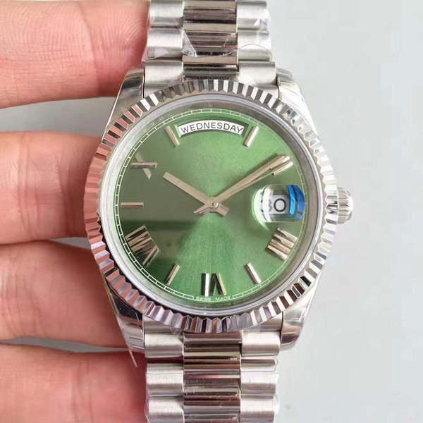2019 hot sale High quality classic watch day date m228239-0033 green 40mm dial 2813 automatic movement original stainless steel strap