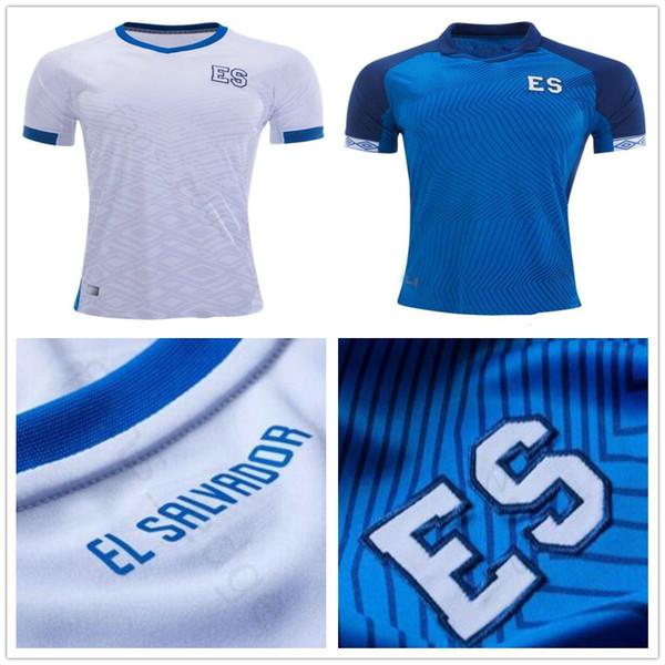 2019 Taça De Ouro Da Equipe Nacional de El Salvador Camisas De Futebol 8 PJANIC Personalizado Qualquer Número Nome Casa Fora Azul Branco Camisa De Futebol Jersey
